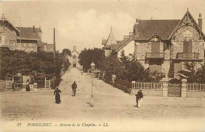 """CPA FRANCE 44 """"Pornichet, avenue de la Chapelle"""""""