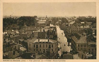"""/ CPA FRANCE 01 """"Bourg en Bresse, vue générale sur l'avenue Alsace Lorraine"""""""