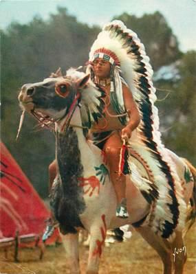 "CPSM SERIE TELEVISEE ""Les Indiens, Ta,ka, le chef de tribu"""