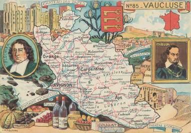 """CPSM FRANCE 84 """" Carte géographique du Vaucluse"""""""
