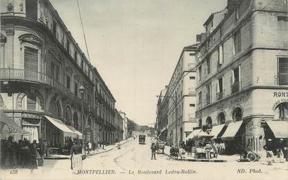 "CPA FRANCE 34 "" Montpellier, Le Boulevard Ledru Rollin"""