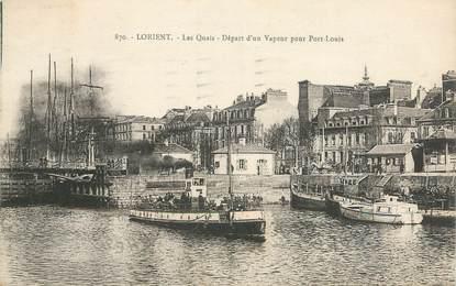 """CPA FRANCE 56 """"Lorient, Les Quais"""""""