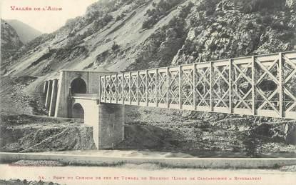 "CPA FRANCE 66 "" Bourrec, Pont du chemin de fer et tunnel"""
