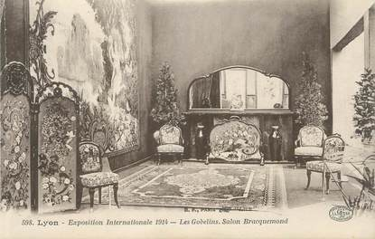 "CPA FRANCE 69 "" Lyon, Exposition internationale de 1914, Les Gobelins, Salon Bracquemond"" / ART NOUVEAU"