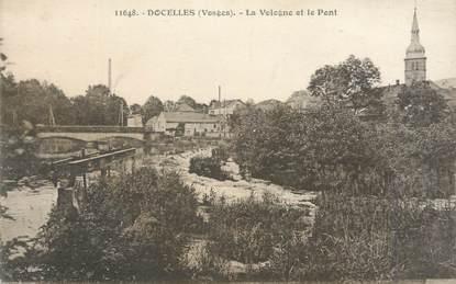 """CPA FRANCE 88 """" Docelles, La Vologne et le pont"""""""