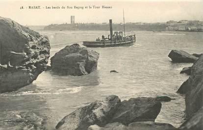 """CPA MAROC """"Rabat, les bords du Bou Regreg et la Tour Hassan"""""""