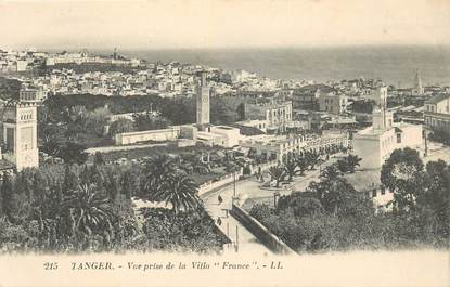 "CPA MAROC ""Tanger, vue prise de la Villa France"""
