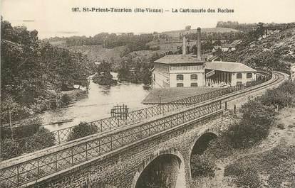 "CPA FRANCE 87 "" St Priest Taurion, Les Cartonneries des Roches"""