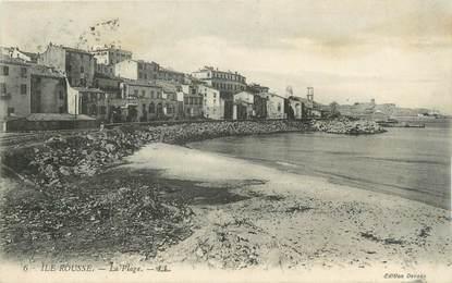 """CPA FRANCE 20 """" Corse, Ile Rousse , La plage"""""""