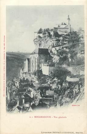 """/ CPA FRANCE 46 """"Rocamadour, vue générale"""""""