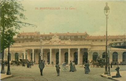 "CPA FRANCE 34 "" Montpellier, La gare"""