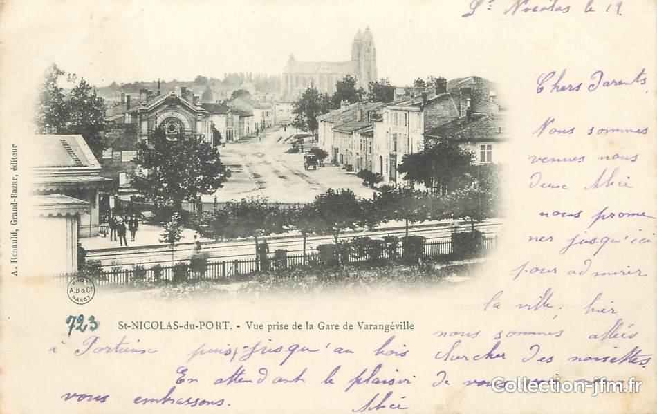 Cpa france 54 st nicolas du port vue prise de la gare de varang ville 54 meurthe et - Hopital saint nicolas de port ...