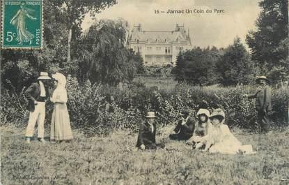 """CPA FRANCE 16 """" Jarnac, Un coin du parc"""""""
