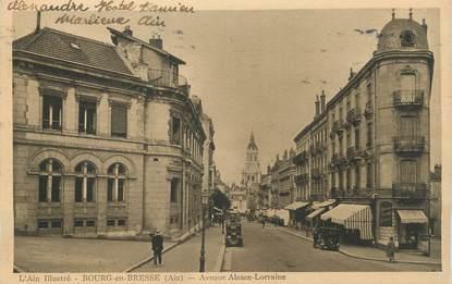 """CPA FRANCE 01 """" Bourg en Bresse, Avenue Alsace Lorraine"""""""