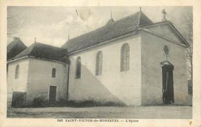 """CPA FRANCE 38 """" St Victor de Morestel, L'église"""""""