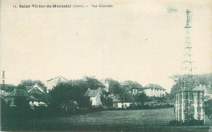 """CPA FRANCE 38 """" St Victor de Morestel, Vue générale"""" / EOLIENNE"""