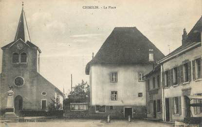 "CPA FRANCE 38 ""Chimilin, La place"""