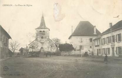 """CPA FRANCE 38 """"Chimilin, La Place de l'Eglise"""""""