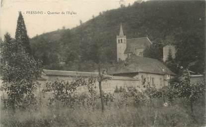 """CPA FRANCE 38 """"Pressins, Quartier de l'église"""""""