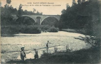 """CPA FRANCE 38 """" St Albin de Vaulserre, Le pont sur le Guiers"""""""