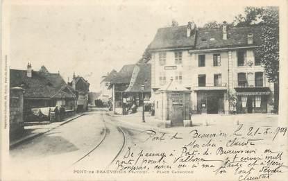 """CPA FRANCE 38 """" Pont de Beauvoisin, La Place Carrouge"""""""