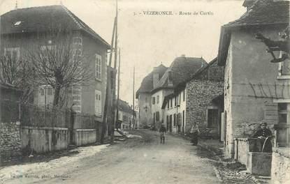 """CPA FRANCE 38 """" Vézeronce, Route de Curtin"""""""