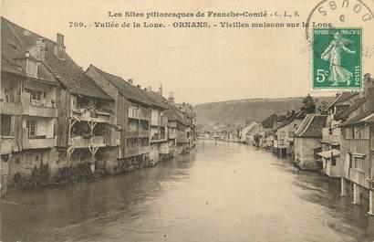 """CPA FRANCE 25 """"Ornans, vieilles maisons sur la Loue"""""""
