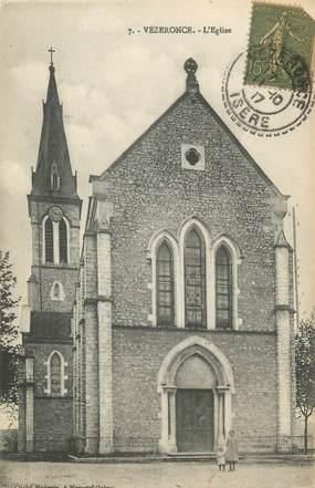 """CPA FRANCE 38 """" Vézeronce, L'église"""""""