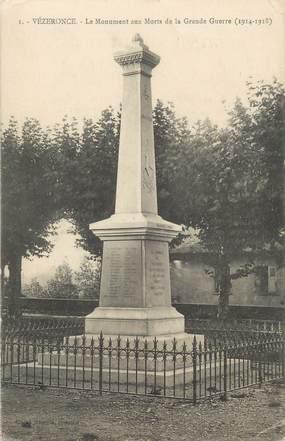 """CPA FRANCE 38 """" Vézeronce, Le monument aux morts"""""""
