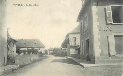 """CPA FRANCE 38 """" Veyrins, La Grande Rue"""""""