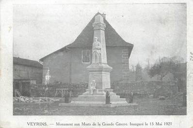 "CPA FRANCE 38 "" Veyrins, Le monument aux morts"""