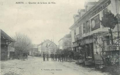 """CPA FRANCE 38 """" Aoste, Quartier de la Gare de l'Est"""""""