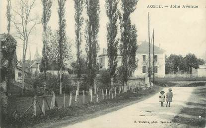 "CPA FRANCE 38 "" Aoste, Jolie Avenue"""