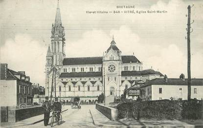"""/ CPA FRANCE 35 """"Vitré, église Saint Martin"""""""