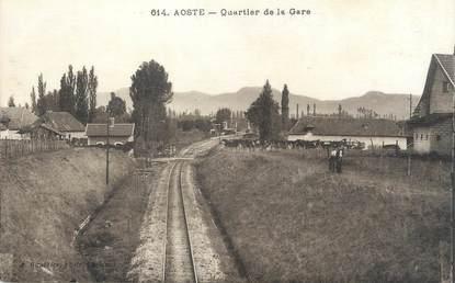 "CPA FRANCE 38 "" Aoste, Quartier de la gare"""
