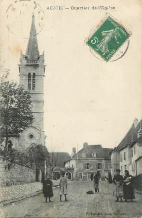 """CPA FRANCE 38 """" Aoste, Quartier de l'église"""""""