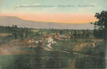 """CPA FRANCE 38 """" La Batie Montgascon, Village d'Evrieu, Vue d'ensemble"""""""