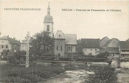 """CPA FRANCE 90 """"Delle, vue sur la Passerelle et l'Allaine"""""""
