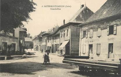 """CPA FRANCE 38 """" La Batie Montgascon, Grande Rue"""""""
