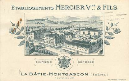 "CPA FRANCE 38 "" La Batie Montgascon, Etablissements Mercier"""