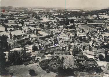 """CPSM FRANCE 38 """" La Batie Montgascon, Vue panoramique aérienne"""""""