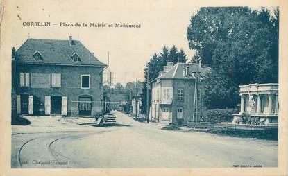 """CPA FRANCE 38 """" Corbelin, Place de la Mairie et Monument aux Morts"""""""