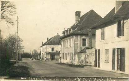 "CARTE PHOTO FRANCE 38 "" Corbelin, RN 75 à Bois Vion"""