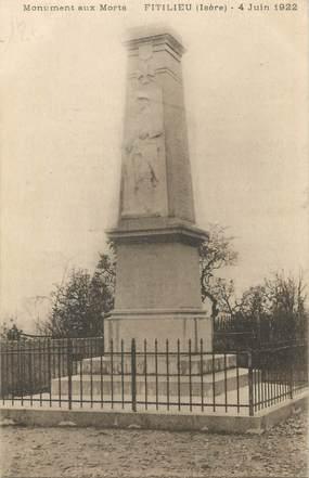 """CPA FRANCE 38 """" Fitilieu, Le monument aux morts"""""""