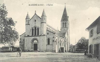 """CPA FRANCE 38 """" St André le Gaz, L'église"""""""