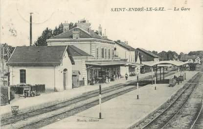"""CPA FRANCE 38 """" St André le Gaz, La gare"""""""