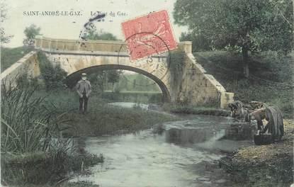 """CPA FRANCE 38 """" St André le Gaz, Le Pont du Gaz"""""""