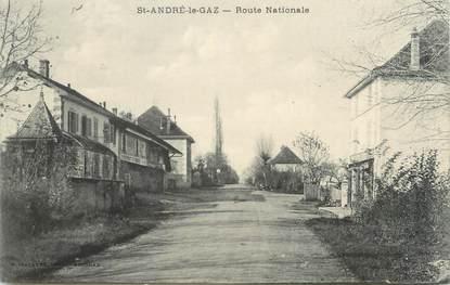 """CPA FRANCE 38 """" St André le Gaz, Route Nationale"""""""