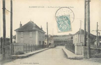 """CPA FRANCE 38 """" St André le Gaz, Le Pont et le Quartier de la Gare"""""""