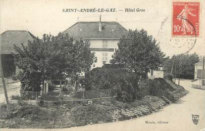 """CPA FRANCE 38 """" St André le Gaz, Hôtel Gros"""""""